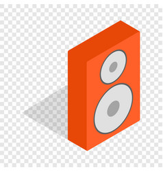 Orange speaker isometric icon vector