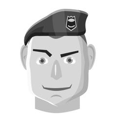 Paratrooper icon gray monochrome style vector image