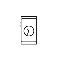 smartphone time icon vector image