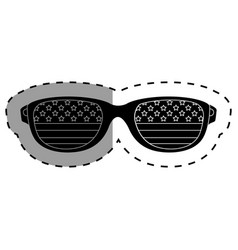United states of america glasses vector