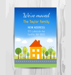 Welcome party invitation card new home party vector
