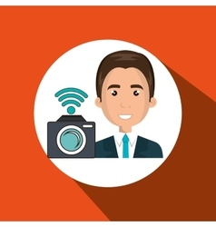 Man camera photo photography vector