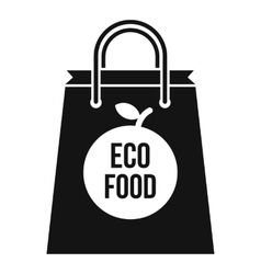 Eco food bag icon simple style vector
