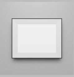 Horizontal black frame blank template vector