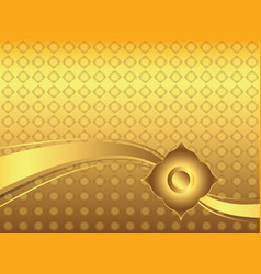 Abstract golden lai thai background vector
