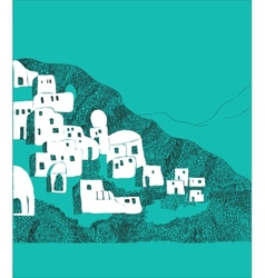 Santorini island greece vector