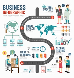 Infographic bussiness template design concept vector image