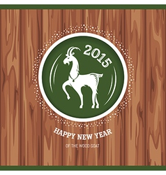 New year greeting card with goat vector