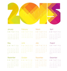 Calendar 2015 colorful vector