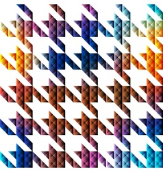 Hounds-tooth geometric pattern of triangles vector