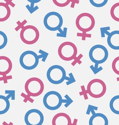Seamless pattern of gender icons wallpaper of male vector