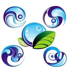 wave symbols vector image