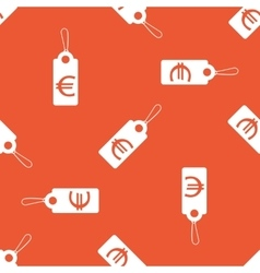 Orange euro price pattern vector