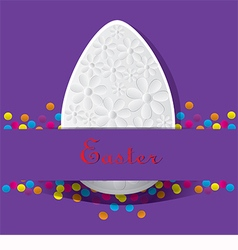 purple card for Easter vector image