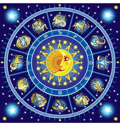 Horoscope circle vector