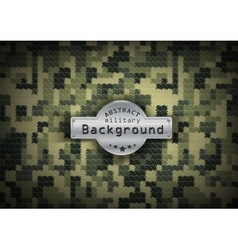 Camouflage military pixel art pattern background vector