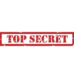 Stamp top secret vector