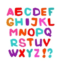 Hand written font English alphabet on white vector image
