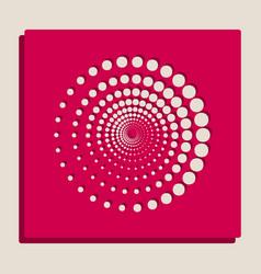 Abstract technology circles sign vector