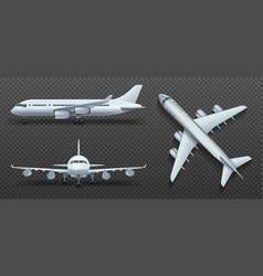 Aircraft airplane airliner in different point of vector