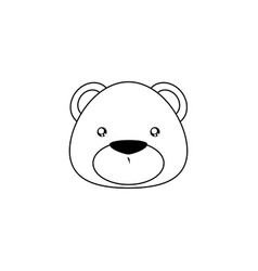 bear drawing face vector image vector image