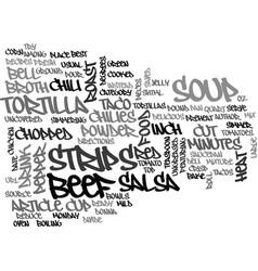 Best recipes taco soup text word cloud concept vector