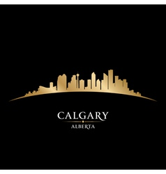 Calgary Alberta Canada city skyline silhouette vector image vector image