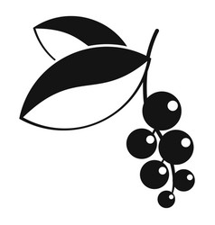 Currant berries icon simple style vector