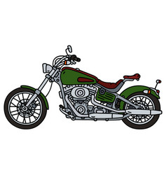 green heavy chopper vector image