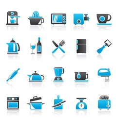 Kitchenware objects and equipment icons vector image