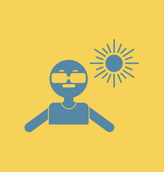 man in sunglasses vector image vector image