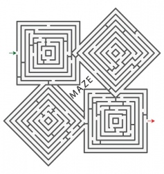 maze background vector image