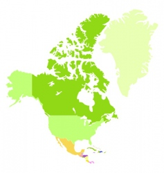 northern America vector image vector image