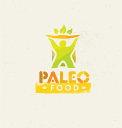 Paleo food clean eating concept on organic vector