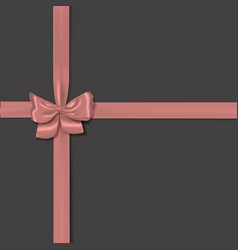 Pink isolated realistic bow vector