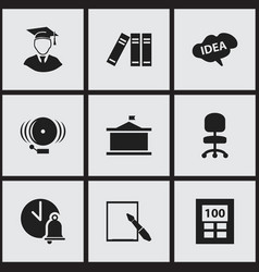 set of 9 editable science icons includes symbols vector image vector image