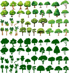 Silhoutte of trees vector