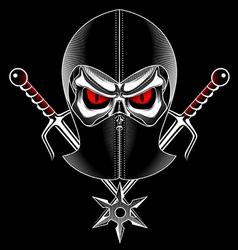Skull ninja vector