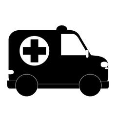 small ambulance icon vector image