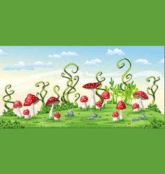 some fly mushrooms vector image vector image