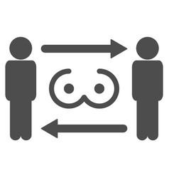 swingers exchange flat icon vector image vector image
