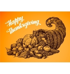 Thanksgiving Day Hand drawn vector image vector image