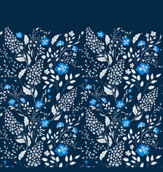 the border of delicate little blue and white vector image