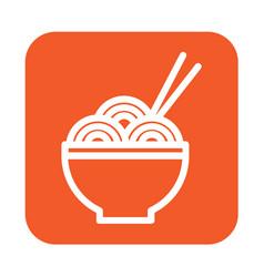 Thin line noodle icon vector