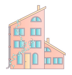 Traditional and modern house family home flat vector