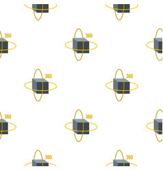 Virtual cube pattern seamless vector