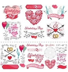 Wedding decor elements setLabelscardinvitation vector image vector image