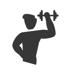 Weight lifting icon healthy lifestyle design vector