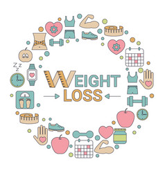 Weight loss concept weight loss concept vector