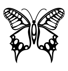 Fluttering butterfly icon simple style vector image